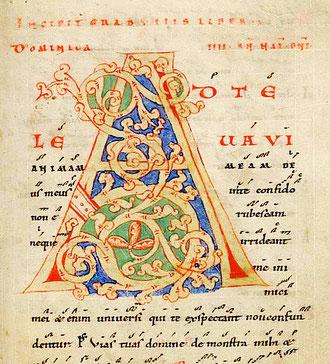 Premier dimanche de l'Avent-manuscrit de Saint-Gall