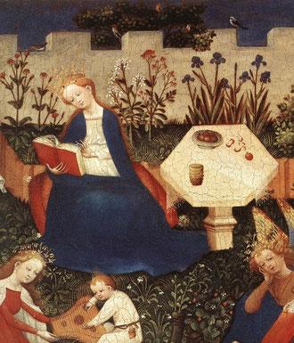Paradiesgärtlein (détail) - Maître de Francfort, vers 1410