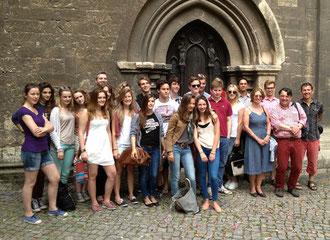 Lycéens allemands, français et anglais à Naumburg (Saxe)
