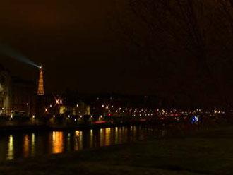 夜景がキレイ。遠くにエッフェルくんも!