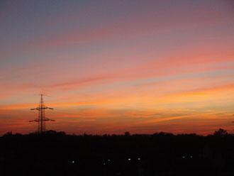 夕暮れの風景・・・しょぼん。