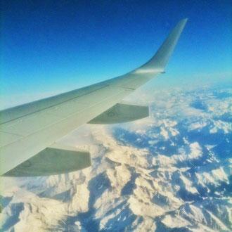 日本行きの飛行機の中から。続きを読むをクリック。