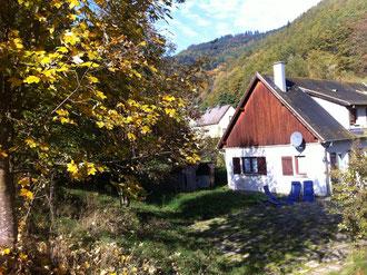 Vue de la terrasse en automne