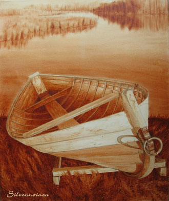 Ölmalerei auf Baumwollkeilrahmen 50 x 60