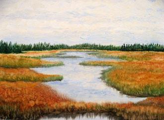 Öl-Malerei auf Malpappe mit Pp. 40 x 50