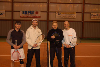 de gauche à droite : Clayeux/Simonet , Ordas/Gaspari