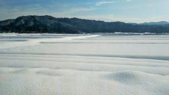 田も畑もすべてがなだらかな雪の下