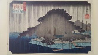 近江八景から「唐崎夜雨」
