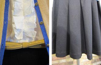 シャツ¥19950(sizeL ホワイト)EUROPEAN CULTURE ‐Sold out‐ カーディガン¥14700(sizeT1,T2 ベージュ)-Sold out- ベルト¥9240(ベージュ)共にSinequanone ‐Sold out‐ スカート¥15750(size2 ブラック)MAXOU-Sold out-
