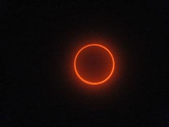 真円に近い金環日食を見ることができました