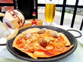 近海魚介のシーフードピザ¥1,350