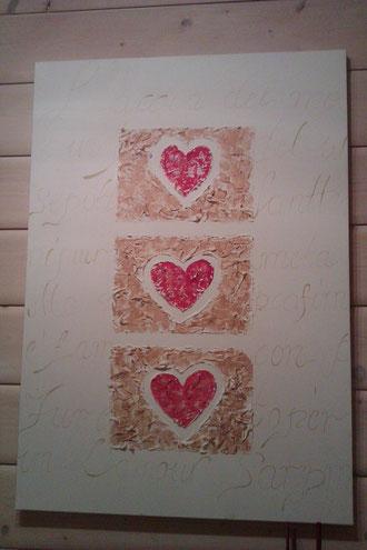 Acrylbild mit Herz €120,-