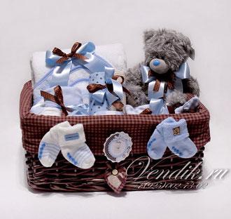 """Подарочный набор для новорожденного мальчика """"Серенький Мишутка"""""""