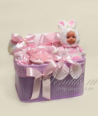 """©Подарочный набор для новорожденной девочки """" Милая Заюшка"""""""