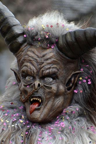 Maschera spaventosa per scacciare gli spiriti malvagi