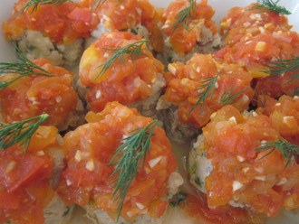 Tuna Ball with Tomato Sauce