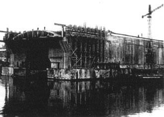 "U-Boot Bunker ""Konrad"" im Bau (Foto: Kriegsmarine)"