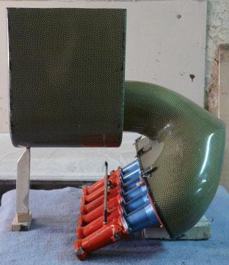 Boite à air en carbone kevlar- buggy Manu CASTAN