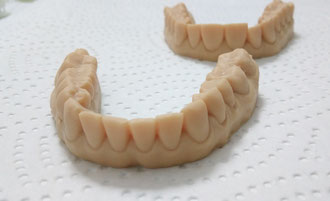 Dentalmodell, Zahnmodell, additiv gefertigt, 3D gedruckt, Zähne