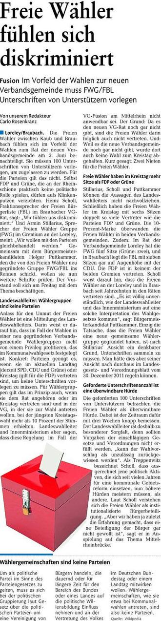 Mit freundlicher Genehmigung der Rhein-Lahnzeitung vom 19.01.2012