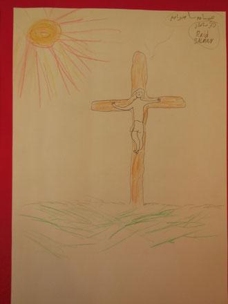 Jesus wird gekreuzigt.