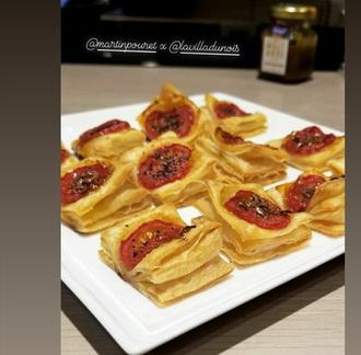 Tartelette à la tomate et au confit de moutarde