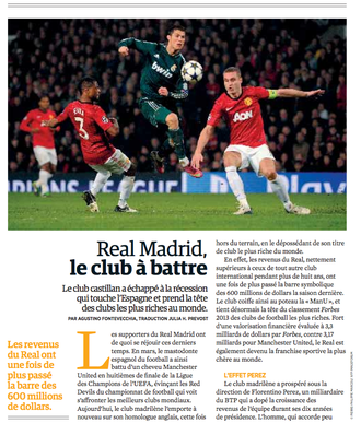 Article business sur le Real Madrid (Forbes Afrique) — Traduction Julia H. Prevost (The Write Thing)