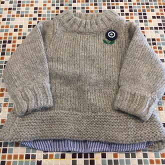 Seraph                    後ろ切り替えニットセーター(S513016)    (Size 110・120・130・140㎝)      ¥3.600+税