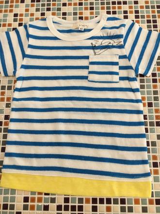 セラフ                    ポケットボーダーTシャツ(S307066)      (size 110・120・130㎝)          ¥1.900+税