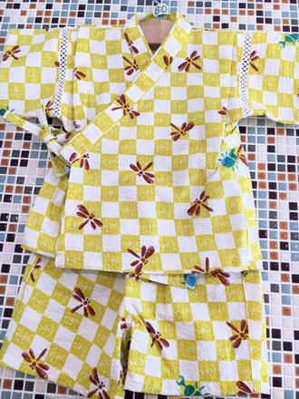 ampersand(アンパサンド)          Boy's昆虫×一抹総柄甚平スーツ(L375016)    (size 100㎝)               ¥2.900+税