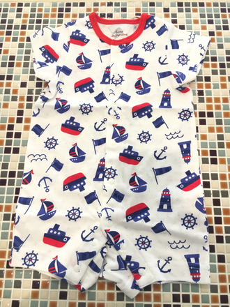 baby ampersand               マリン柄ロンパス(H233027)          (size 70㎝)               ¥1.900+税
