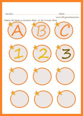 letras en círculos