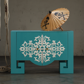 -Shine by S.H.O-Turquoise cabinet