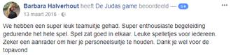 Recensie Judas Game centrum Zwolle