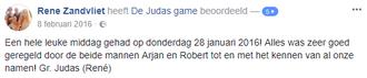 Recensie Judas Game Zwolle