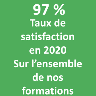 97 % taux de satisfaction en 2020 savoirs plus