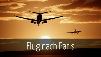 Flug nach Paris