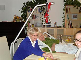 Foto 3: Patient und Angehörige sind entspannt