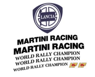 lancia delta martini 6 sponsor sticker adhesive kit
