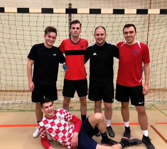 Team Albanien: v.l. Leutrim Rufati, Valmir Ahmeti, Yannick Hirzel, Almir Mulina unten: Matej Sisic