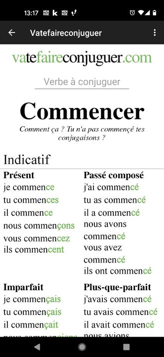 Französische Verben konjungieren