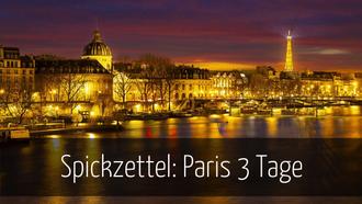 Paris 3 Tage