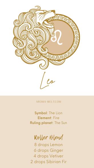 Essential Oils and Zodiac Signs / Astrology / Sternzeichen / Ätherische Öle  - Leo - Löwe