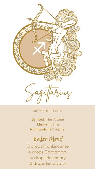 Essential Oils and Zodiac Signs / Astrology / Sternzeichen / Ätherische Öle  - Sagittarius - Schütze