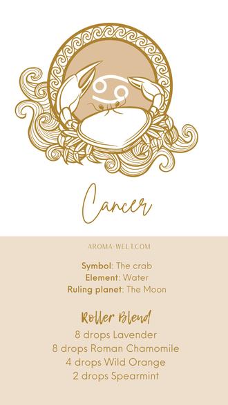 Essential Oils and Zodiac Signs / Astrology / Sternzeichen / Ätherische Öle  - Cancer - Krebs
