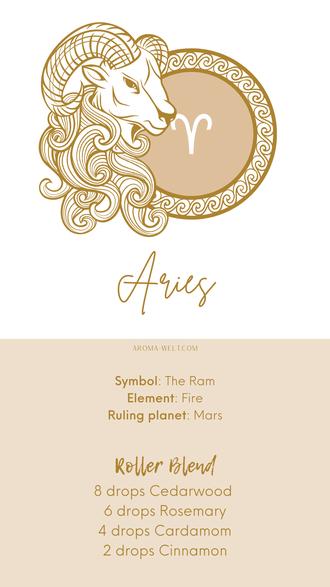 Essential Oils and Zodiac Signs / Astrology / Sternzeichen / Ätherische Öle  - Aries - Widder