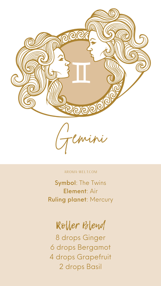 Essential Oils and Zodiac Signs / Astrology / Sternzeichen / Ätherische Öle  - Gemini - Zwilling