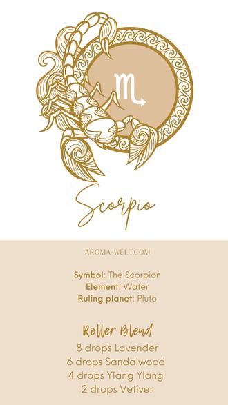 Essential Oils and Zodiac Signs / Astrology / Sternzeichen / Ätherische Öle  - Scorpio - Skorpion
