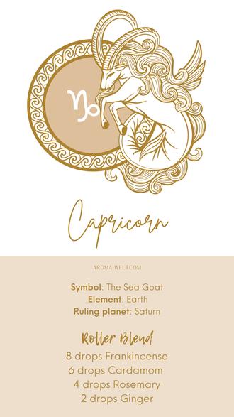 Essential Oils and Zodiac Signs / Astrology / Sternzeichen / Ätherische Öle  - Capricorn - Steinbock