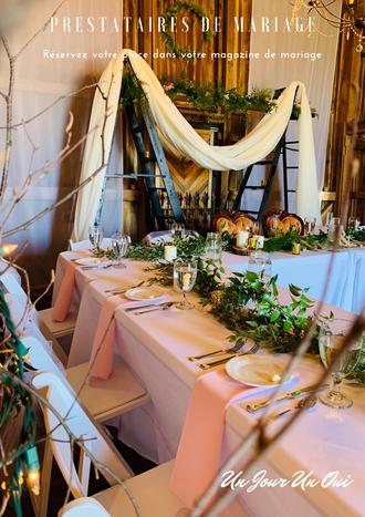 Réservez votre place dans le magazine de mariage Un Jour Un Oui
